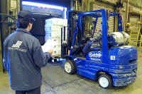 Seafood Supply Company - Blue Forklift (Graphic)